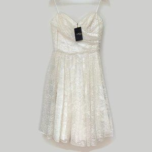 A.B.S. by Allen Schwartz Cream Colored Lace Dress